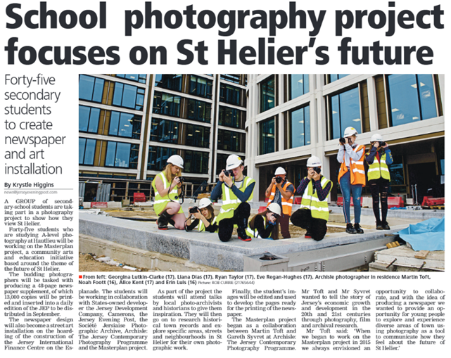 Jun 23rd 2018 - School photography subject on St Helier's future