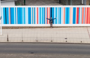 Climate Stripes for Jersey on display at St Helier's Waterfront Image